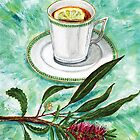 let's have tea with red grevillea and lemon by didielicious