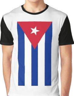 Cuba Flag - Cuban National Flag T-Shirt Sticker Graphic T-Shirt