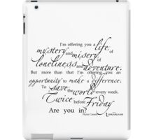 Librarians 'A Life...' Quote black text iPad Case/Skin