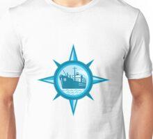 Passenger Cargo Ship Ocean Liner Compass Unisex T-Shirt