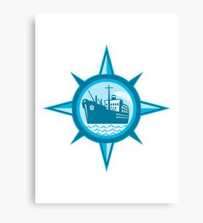 Passenger Cargo Ship Ocean Liner Compass Canvas Print