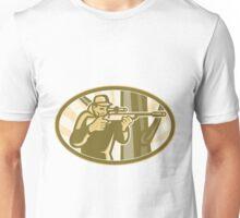Hunter Shooter Aiming Telescope Rifle Retro Unisex T-Shirt