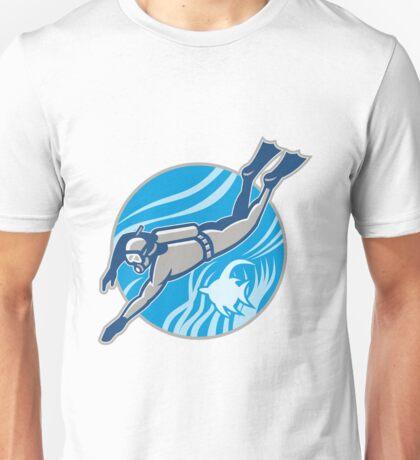 Scuba Diver Diving Retro Unisex T-Shirt