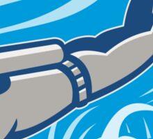 Scuba Diver Diving Retro Sticker