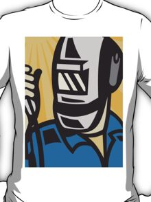 Welder With Welding Torch Visor Retro T-Shirt