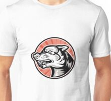 Angry Mongrel Dog Retro Unisex T-Shirt