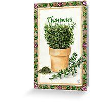 THYME [Thymus] Greeting Card