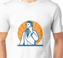 Scientist Talking on the Phone Unisex T-Shirt