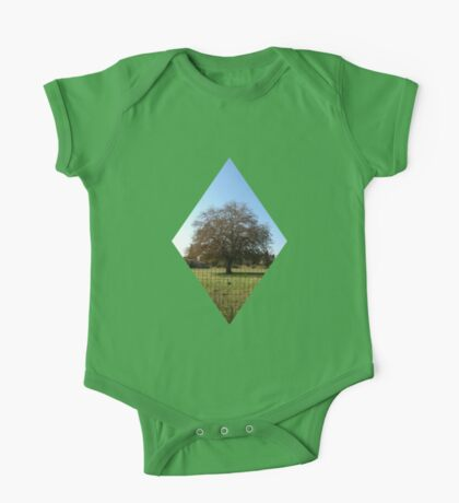 lone tree in autumn One Piece - Short Sleeve