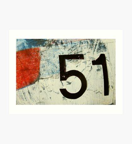 plane 51 Art Print