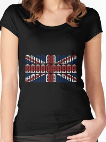 The TARDIS of Britain Women's Fitted Scoop T-Shirt