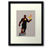 Dustire Superhero Framed Print
