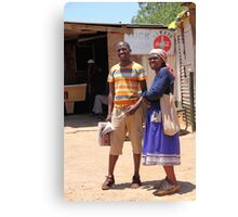 Couple in Soweto Canvas Print