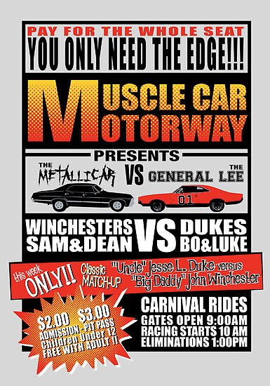 MuscleCar Motorway - Winchesters Vs Dukes by rexraygun