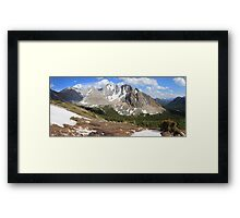 Above Highwood Pass II (panorama) Framed Print