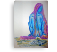 Priestess of the Sin Called Blue Canvas Print