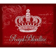 Royal Bloodline - Red Photographic Print
