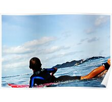 Fijian Surfer Poster