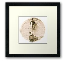 Heading In - Antiqued Framed Print