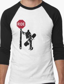 snowboard : directions? Men's Baseball ¾ T-Shirt