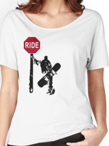 snowboard : directions? Women's Relaxed Fit T-Shirt