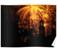 """""""COLONIAL GOVERNOR PALACE FIREWORKS"""" Poster"""