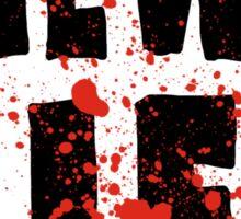Zombie Ragged with blood! Sticker
