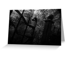 Cemetery Gates Greeting Card