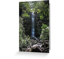 Great ocean road waterfall  Greeting Card