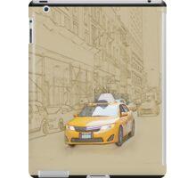 Yellow cab iPad Case/Skin