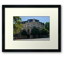 PLAZA PELLEGRINI Framed Print
