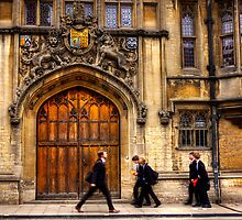 Gentlemen and school boys walking in Oxford by Elana Bailey