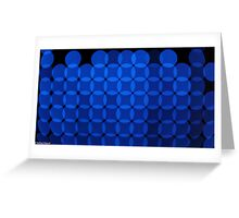Blue Invaders Greeting Card