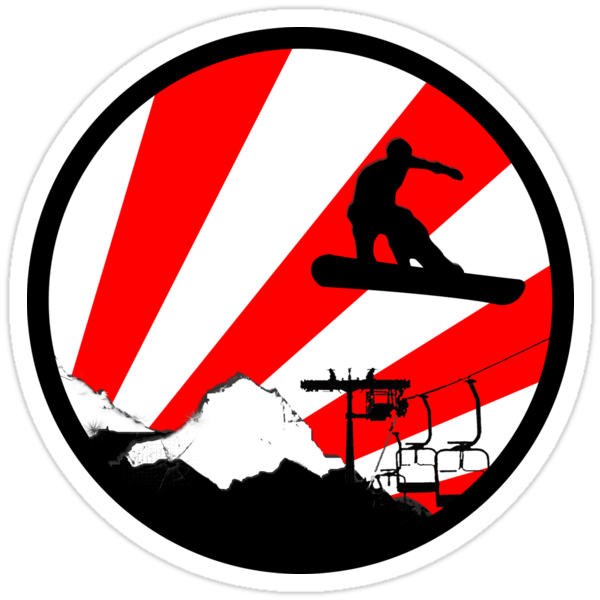 snowboard red rays by asyrum