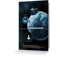 Moonraker - Movie Poster Greeting Card