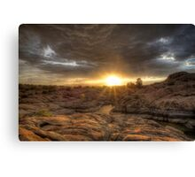 Remains At Sunset Canvas Print