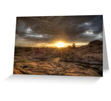 Remains At Sunset Greeting Card