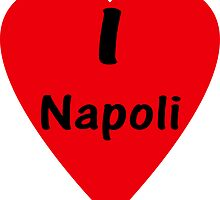 I Love Napoli - I Heart Naples T-Shirt Sticker by deanworld