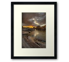 Remains At Sunset 2 Framed Print