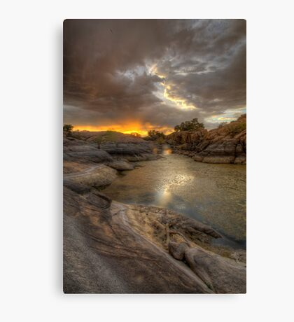 Remains At Sunset 2 Canvas Print