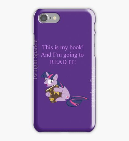 Twilight just wants to read her book iPhone Case/Skin