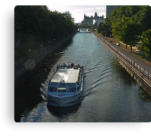 Overlooking the Ottawa Canal in Summer Canvas Print