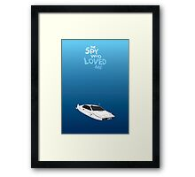 The Spy Who Loved Me - Minimalist poster Framed Print