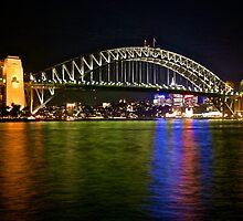 Sydney Harbour Bridge from Macquarie Street by DavoSp8