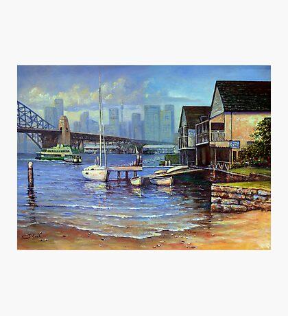 Lavender Bay Boathouse, Sydney Harbour Photographic Print