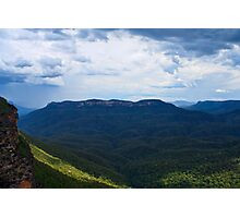 Stormy Mount Solitary Photographic Print
