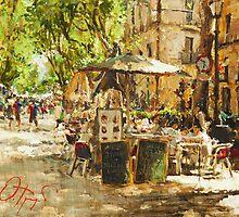 Caffee in Barcelona by Oleg Trofimoff