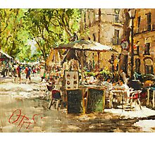 Caffee in Barcelona Photographic Print