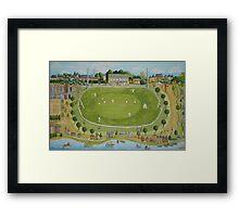 Saturday cricket at Rawson park ,Mosman. Framed Print