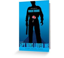 The Spy Who Loved Me - Movie Poster Greeting Card